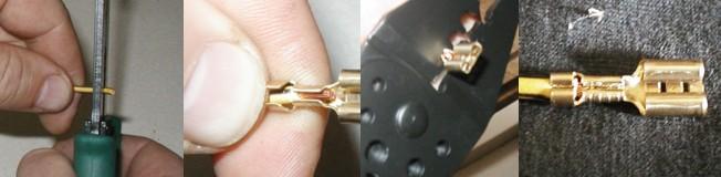 lucar f crimp faston slide spade electrical connector crimp tool vw bay van ford ebay. Black Bedroom Furniture Sets. Home Design Ideas