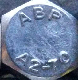 A2 Grade Stainless Bolt Head Stamp